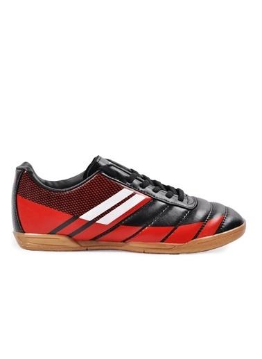 Walkway Wlf2323 Siyah-Kırmızı-Beyaz Erkek Futsal Ayakkabı Siyah